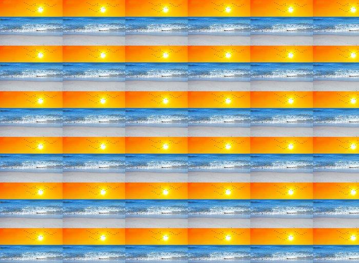 Vinylová Tapeta Svítání v modrém moři - Prázdniny