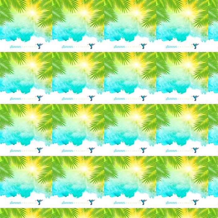 Vinylová Tapeta Tropické letní akvarel pozadí - Roční období