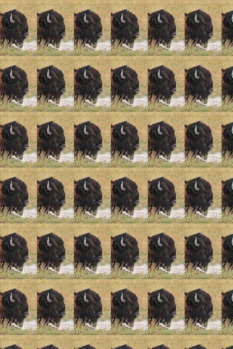 Vinylová Tapeta Americký bizon (Buffalo) Close-up - Savci