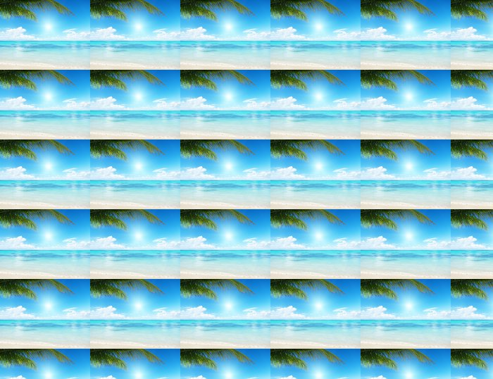 palm and sea Vinyl Wallpaper - Water