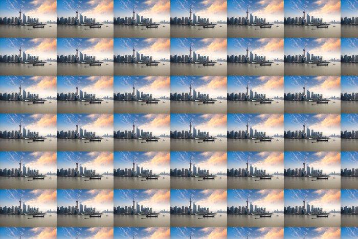 Vinylová Tapeta Shanghai panorama při západu slunce záře - Asijská města