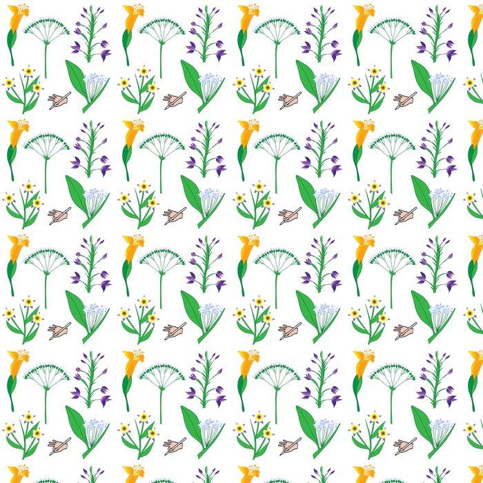 Vinylová Tapeta Handgezeichnet - vektor- blumen - Květiny