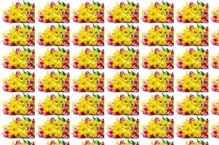 Vinylová Tapeta Tulipány a narcisy - Roční období