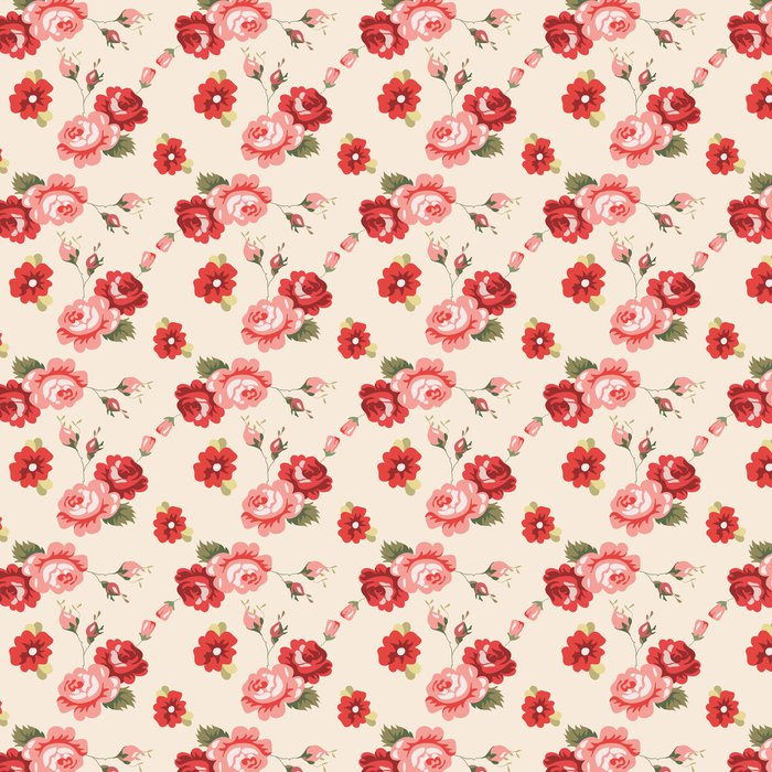 Vinylová Tapeta Vintage floral seamless pattern - Pozadí