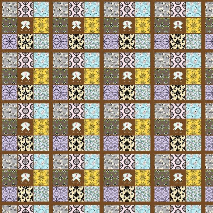 Vinylová Tapeta Sada bezešvých vzorů - Pozadí