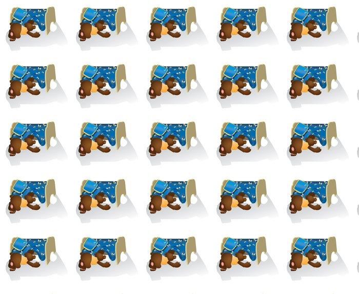 Vinylová Tapeta Medvídě dívá se pod postel - Savci