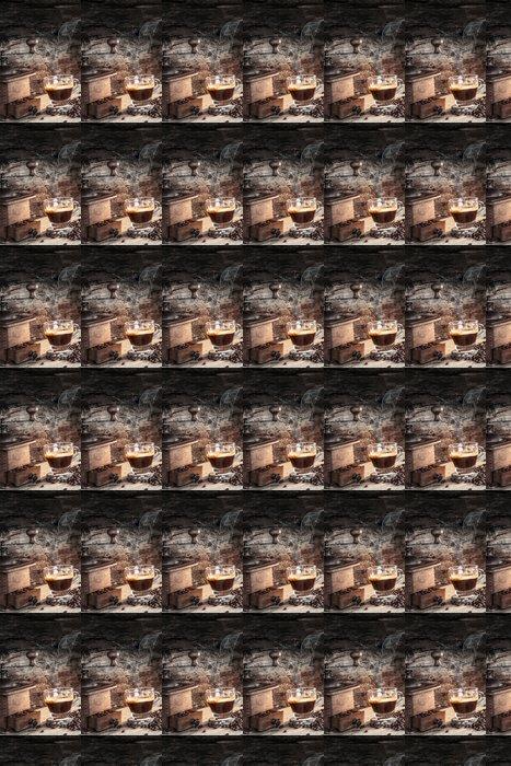 Vinylová Tapeta Horká káva - Káva