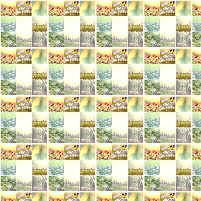 Carta da Parati a Motivi in Vinile Fiori collage - Agricoltura