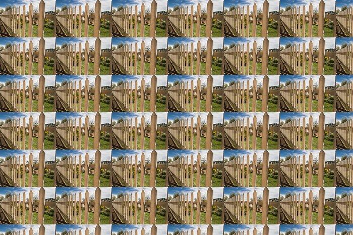 Vinylová Tapeta Dřevěný plot a modrou oblohu na pozadí - Domov a zahrada