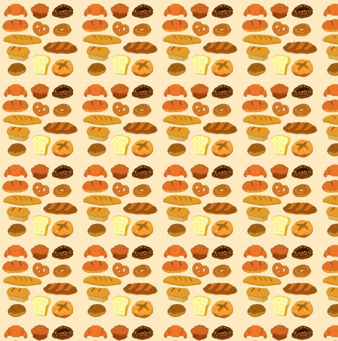 Vinylová Tapeta Karikatura ikona chléb - Jídla