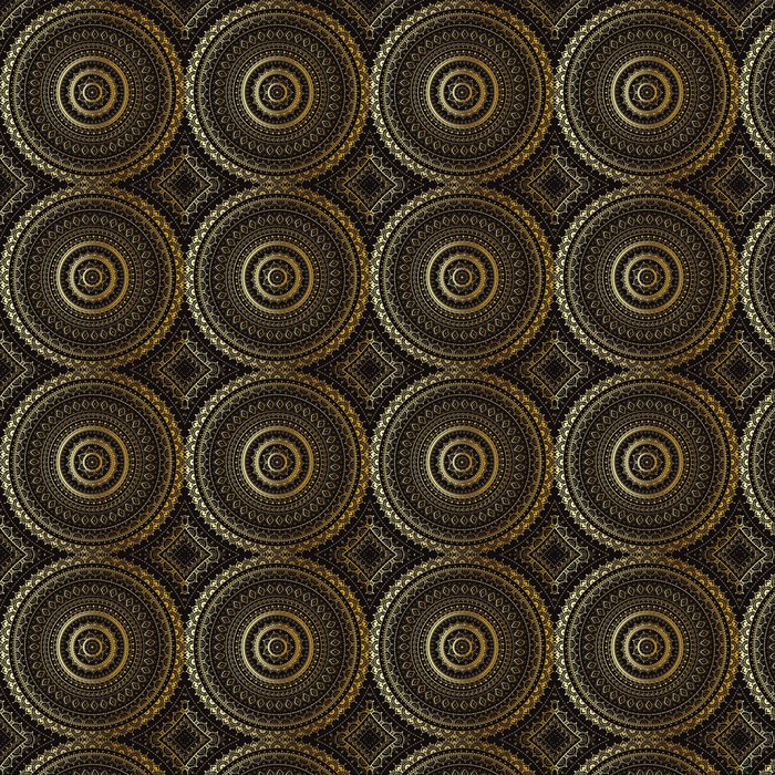 Gold Mandala Indian Decorative Pattern Vinyl Wallpaper