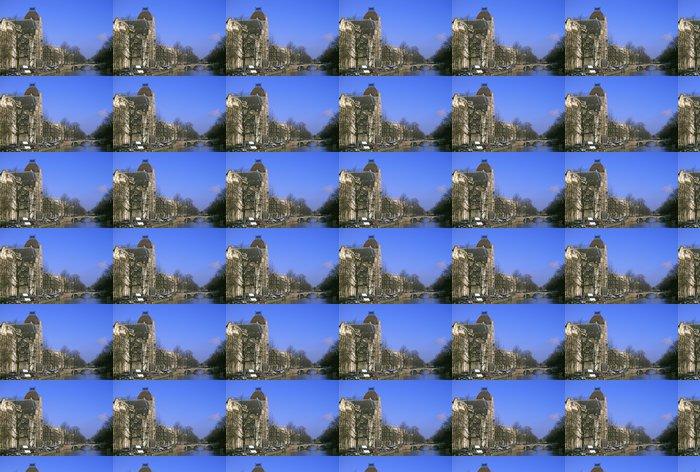 Vinylová Tapeta Ostrý zimní den v Amsterdamu - Evropská města