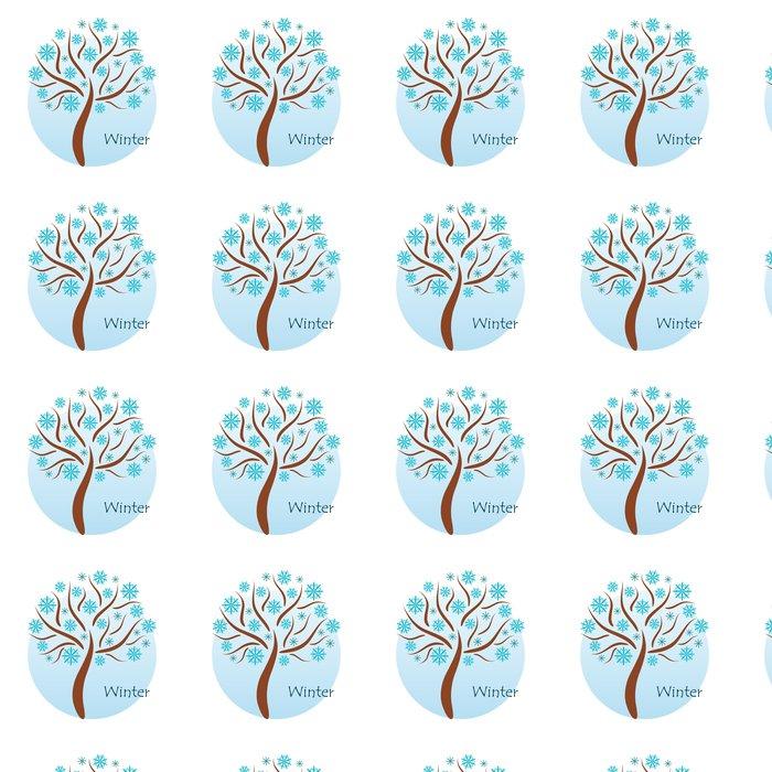 Vinylová Tapeta Zimní strom - Roční období