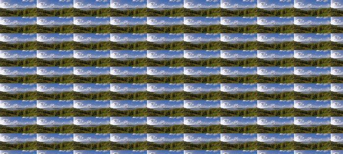 Papier Peint à Motifs Vinyle Lac montagne - Vacances