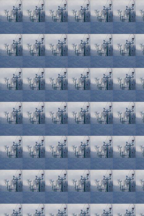 Vinylová Tapeta .winter krizi - nedostatek lidského - Zimní sporty