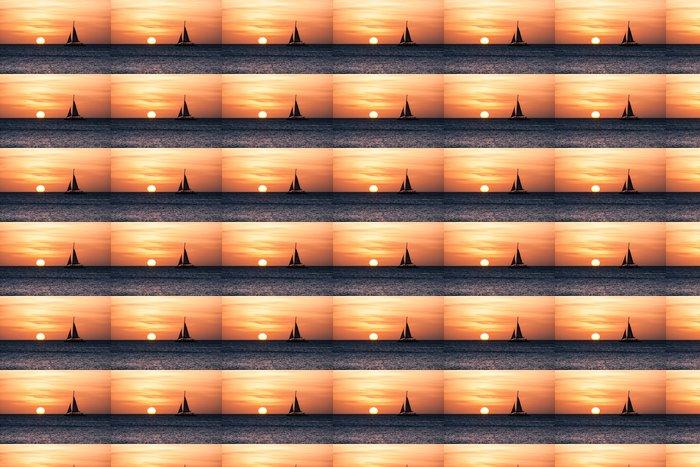 Vinylová Tapeta Plachetnice při západu slunce - Voda
