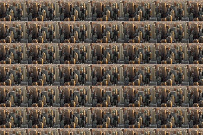 Vinylová Tapeta Manhattan mrakodrapy v soumraku - Americká města