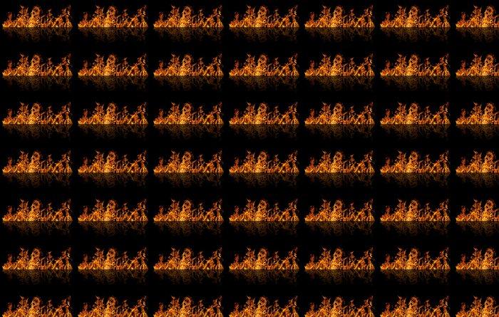 Vinylová Tapeta Izolovaných na černém požární pruh s odrazem - Struktury