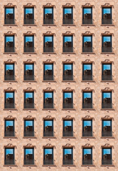 Vinylová Tapeta Okno s odrazem - Evropská města