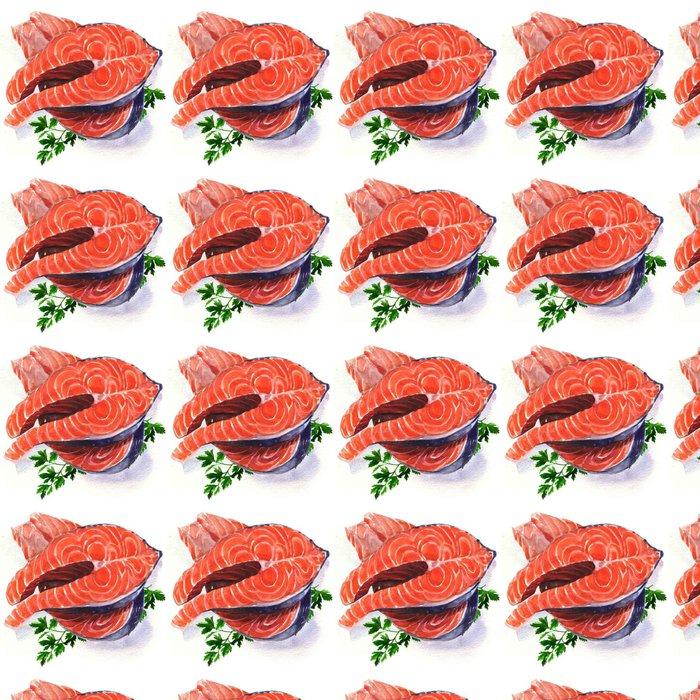 Vinylová Tapeta Steak z lososa červená ryba - Podnikání
