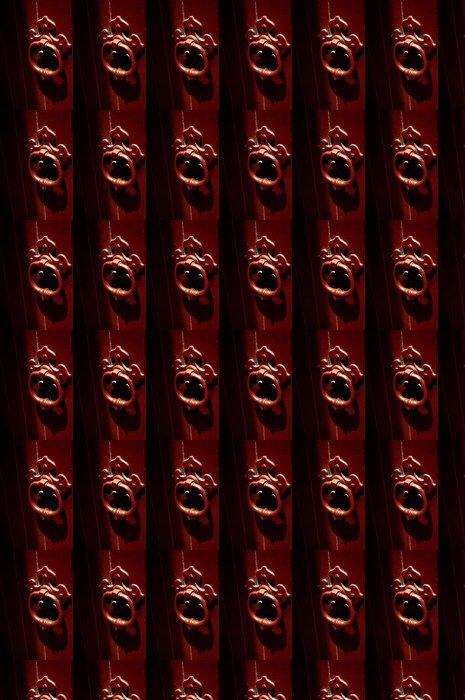 Vinylová Tapeta Starý styl červený zábradlí a dveře Hertiage buil - Oceánie
