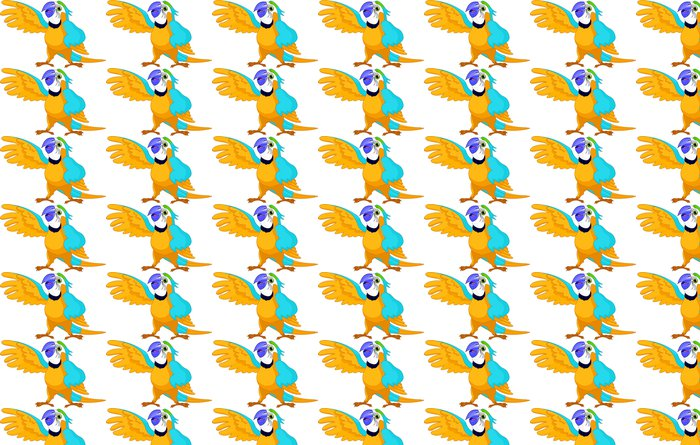 Vinylová Tapeta Mluvící papoušek - Nálepka na stěny