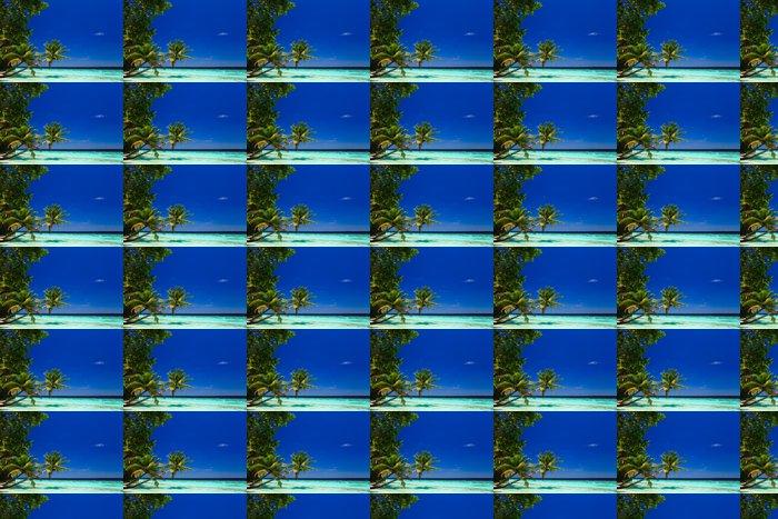 Vinylová Tapeta Tropický ráj na Maledivách - Voda