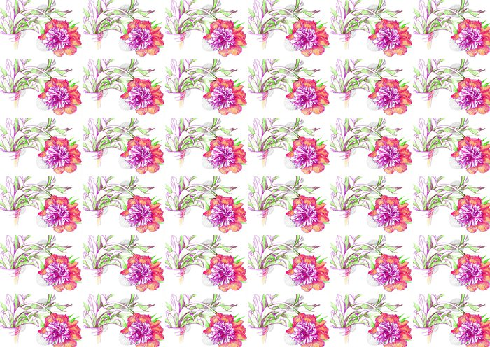иллюстрация цветок пион Vinyl Wallpaper - Flowers
