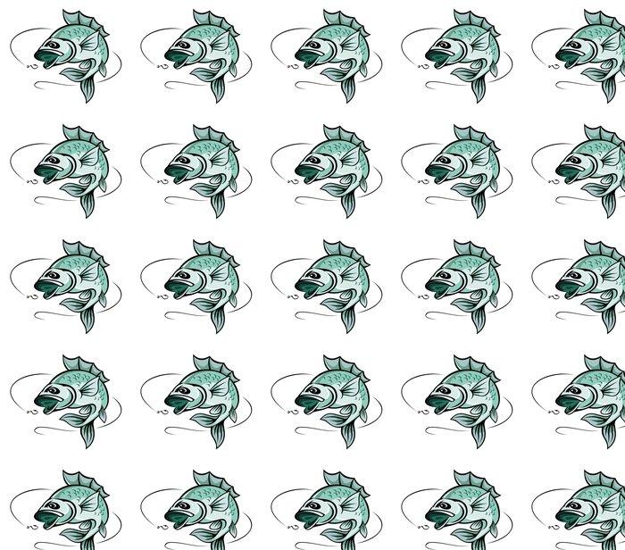 Karpe fisk Vinyltapet - Akvatisk og Marine liv