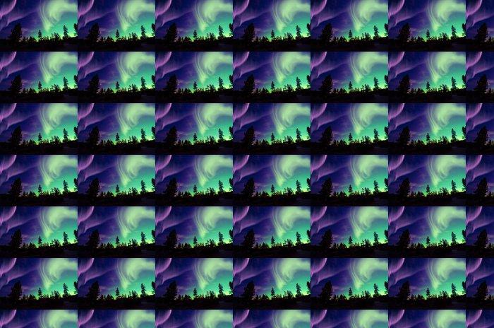 Vinylová Tapeta Polární záře (Aurora borealis) - Nebe