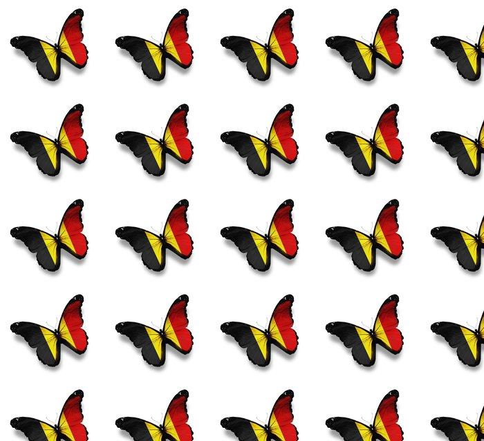 Vinylová Tapeta Belgická vlajka motýl, izolovaných na bílém - Národní svátky