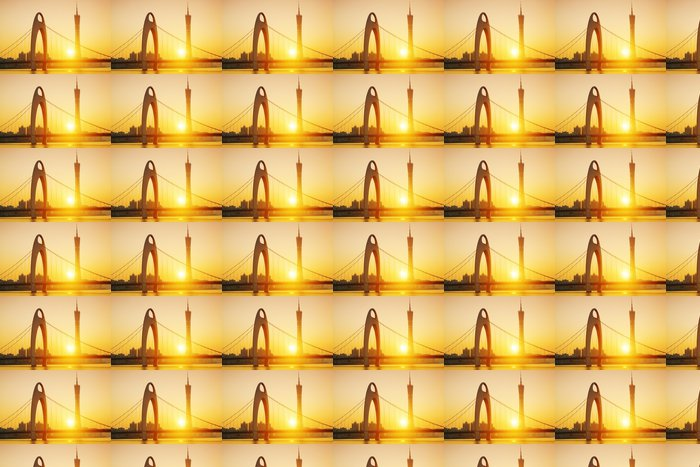 Vinylová Tapeta Guangzhou v západu slunce okamžiku - Město