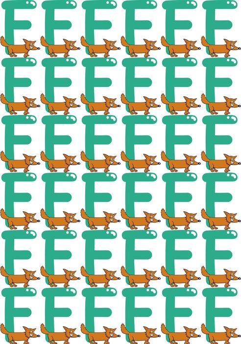 Vinylová Tapeta F pro lišky - Nálepka na stěny