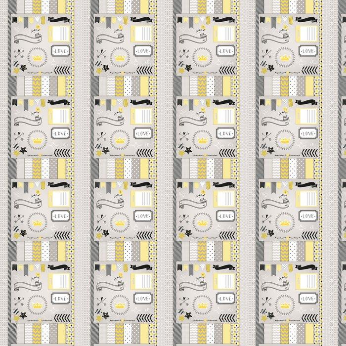 Tapete Grau und Gelb Design-Elemente: Muster, Rahmen, Band, tag, s ...