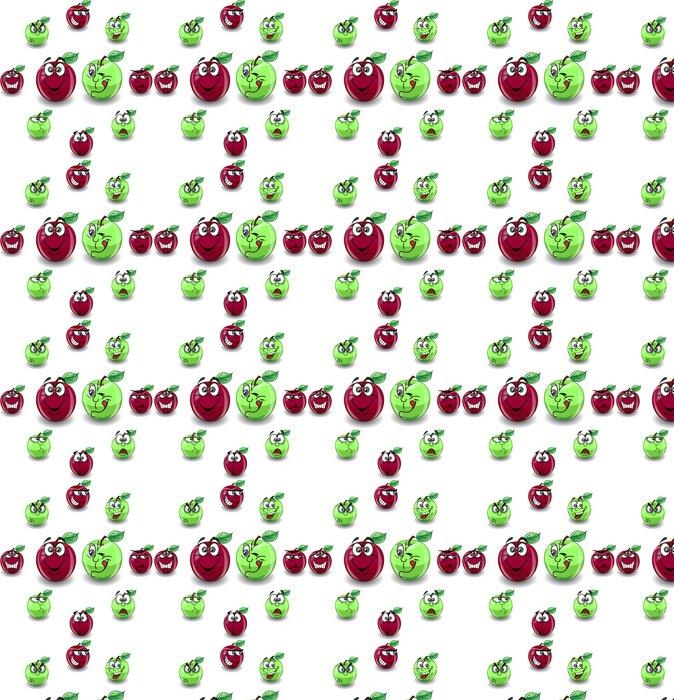 Vinylová Tapeta Красное и зеленое яблоко с различными эмоциями - Jiné pocity