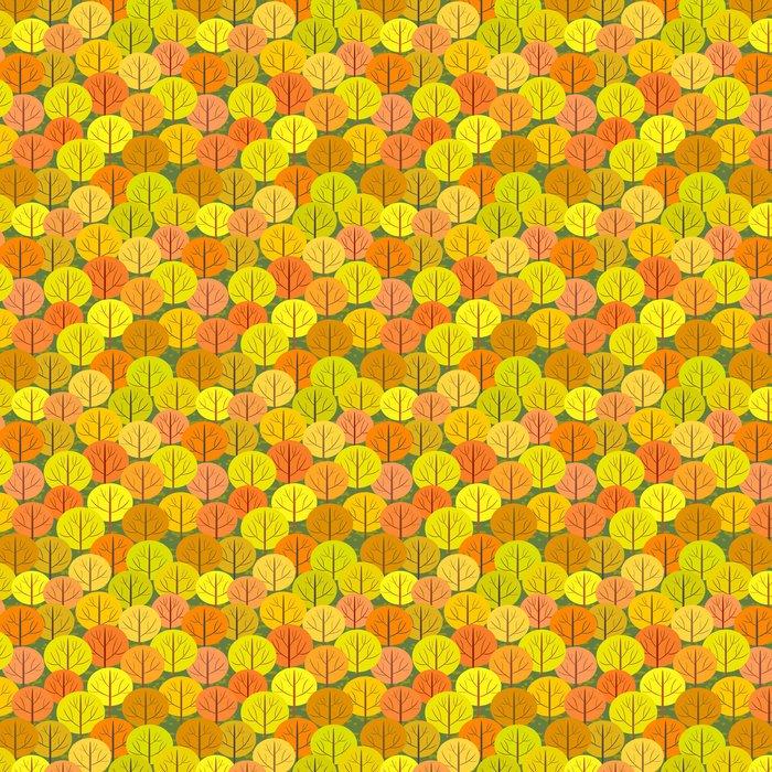 Vinylová Tapeta Abstraktní podzimní les bezešvé pozadí - Zemědělství
