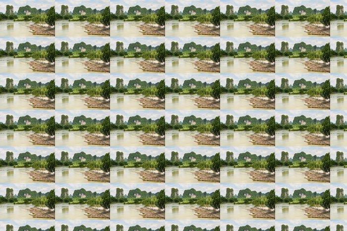 Vinylová Tapeta Bambusové vory v idylické řeky Li scenérie Yangshuo Čína - Voda
