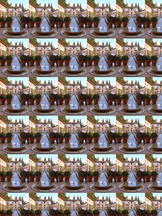 Vinylová Tapeta Vodní fontány ve formální zahradě - Evropa