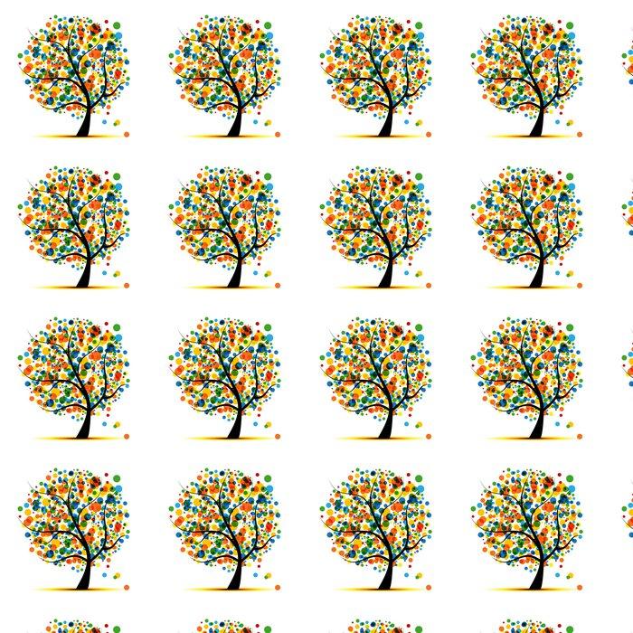 Vinylová Tapeta Abstraktní strom pro svůj design - Roční období