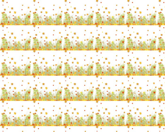 Meadow autumn background Vinyl Wallpaper - Seasons