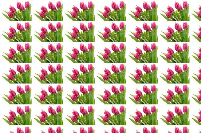 Vinylová Tapeta Růžový tulipán - Květiny