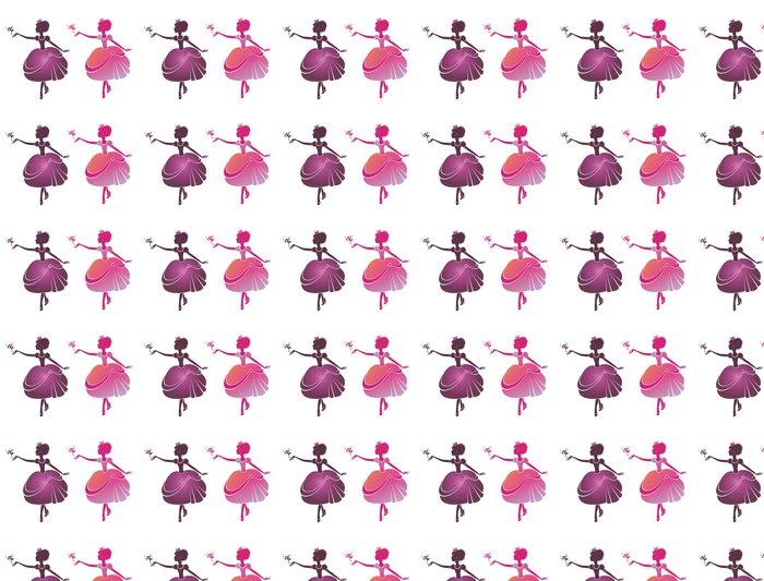 Vinyltapete Kleine Prinzessin Mit Einem Vogel   Fashion