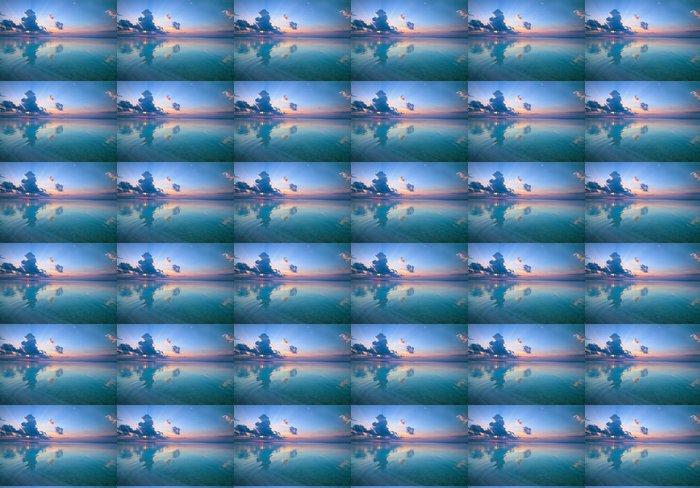 Vinylová Tapeta Magie oranžové slunce nad mořem - Voda