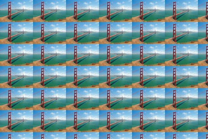 Vinylová Tapeta Golden Gate Bridge v San Franciscu s krásným azurovým Océ - Amerika