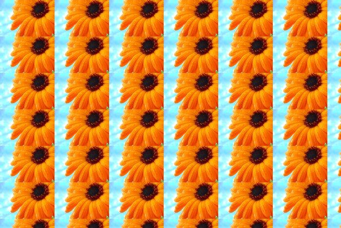 Carta da Parati a Motivi in Vinile Gocce d'acqua su arancio Gerber - Fiori