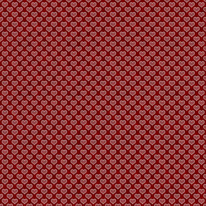 Vinylová Tapeta Červená a bílá Polka Dot Hearts Pattern Repeat pozadí - Štěstí