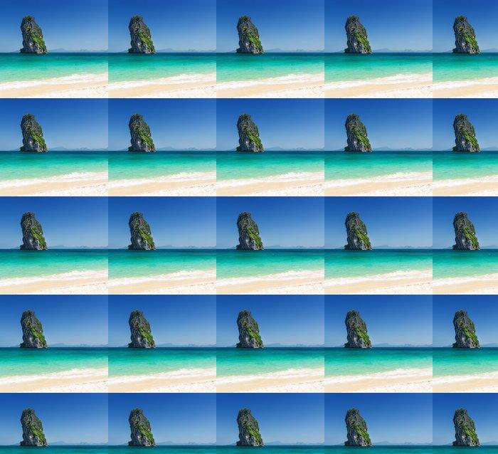 Vinylová Tapeta Čistá voda a modrá obloha. Phra Nang Beach, Thajsko - Příroda a divočina