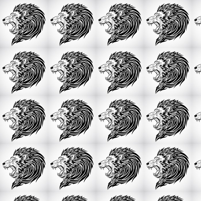 Lion Tattoo Vinyl Wallpaper - Imaginary Animals