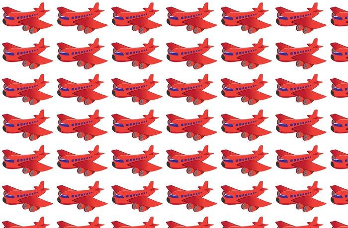 Vinylová Tapeta Červené letadlo - Vzduch