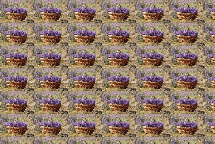 Purple field of lavender flowers Vinyl Wallpaper - Countryside
